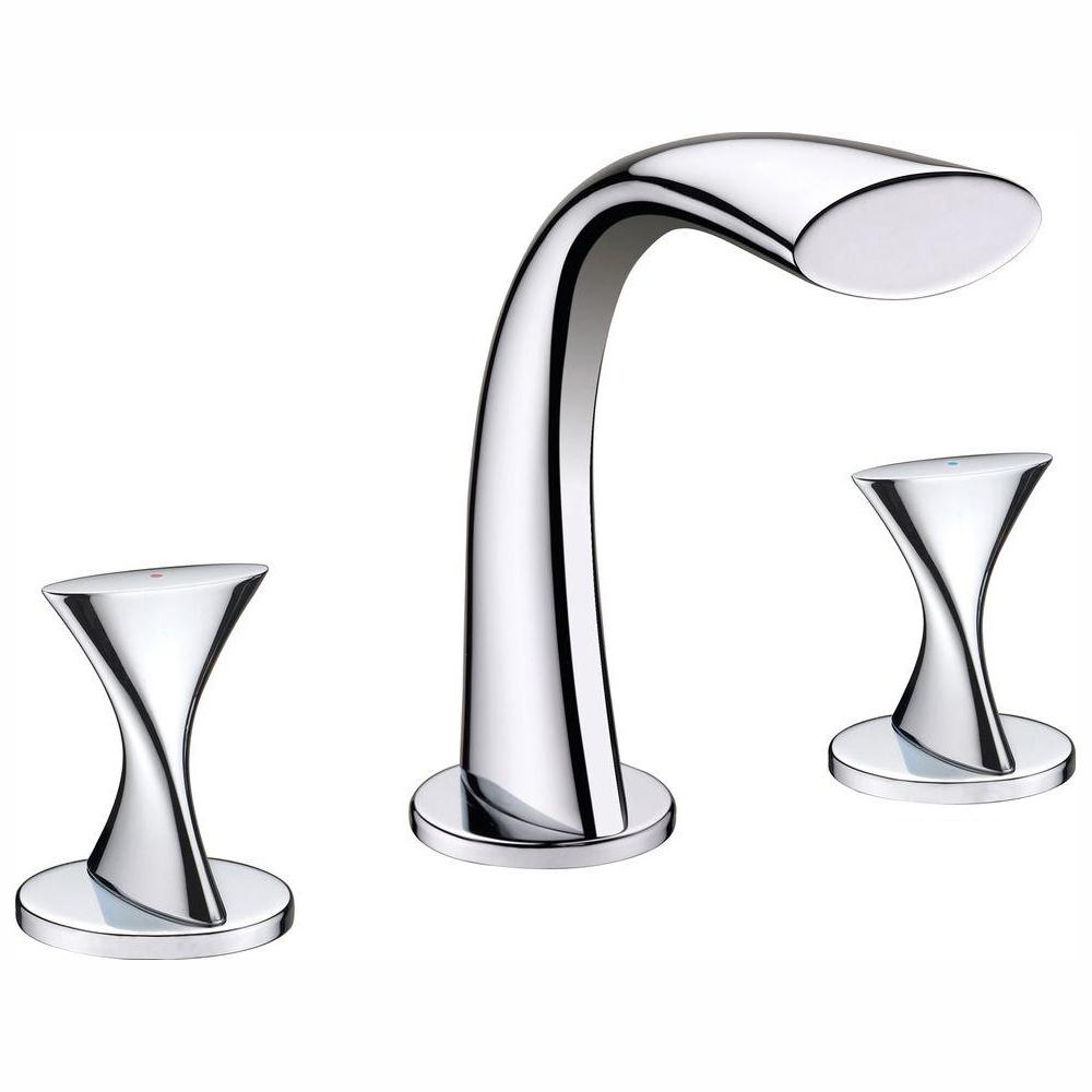Ultra Faucets Twist Collection 8 in. Widespread 2-Handle Bathroom Faucet in Chrome