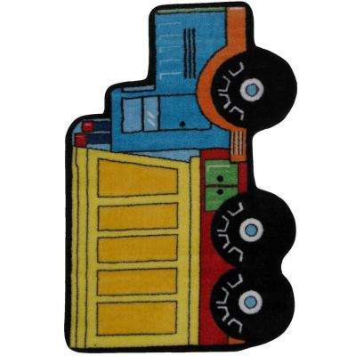 Fun Time Shape Dump Truck Multi Colored 3 ft. x 4 ft. Area Rug