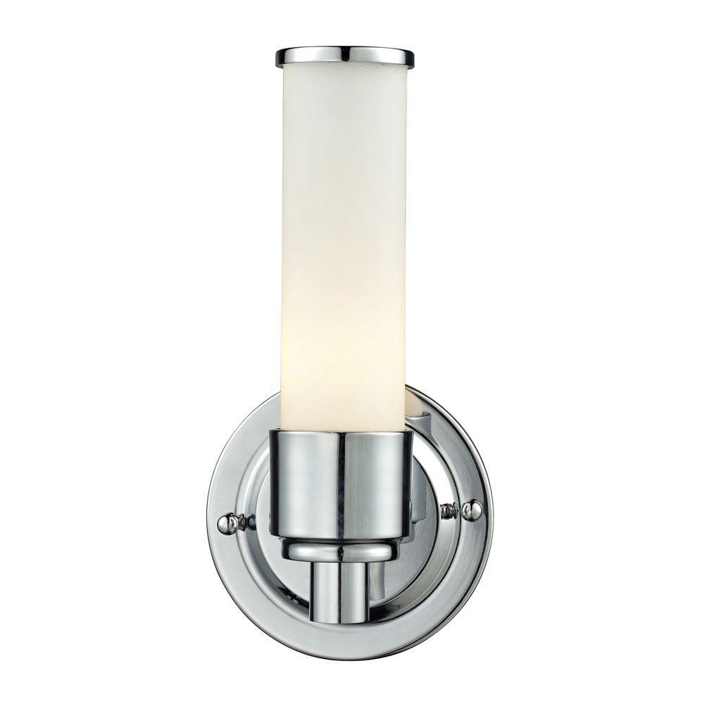 Titan Lighting Metro 1-Light Chrome Wall Mount Bath Bar