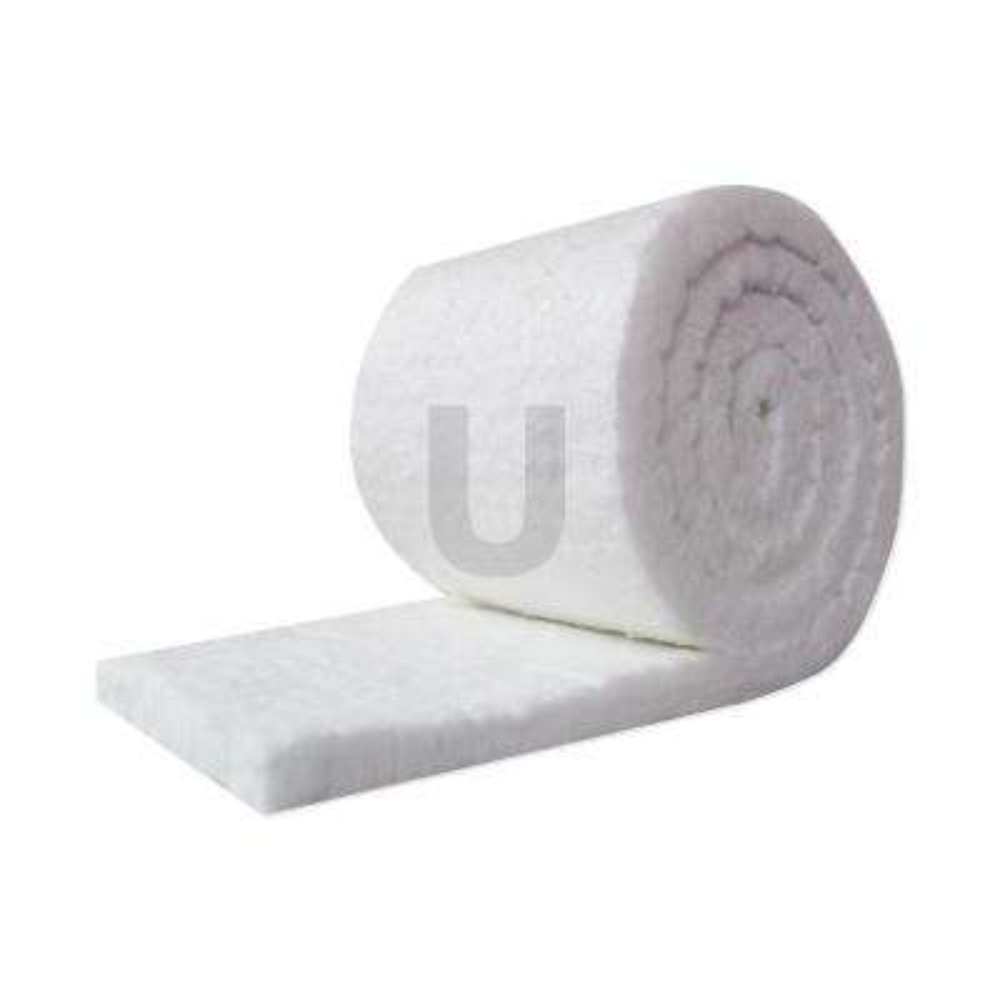 Ceramic Fiber Insulation Blanket Roll, (8# Density, 2300F) (1in.x24in.x60in.) for Kilns, Ovens, Furnaces, Forges, Stoves