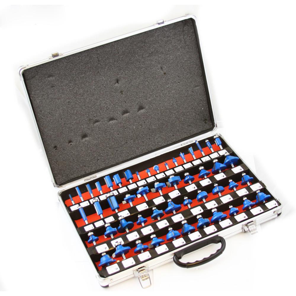 1/4 in. Tungsten Carbide Bladed Router Bit Set (50-Piece)