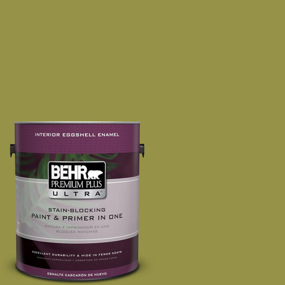 BEHR Premium Plus Ultra Home Decorators Collection 1-gal. #HDC-FL13-8 Tangy Dill Eggshell Enamel Interior Paint