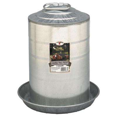 3 gal. Metal Double Wall Poultry Fount