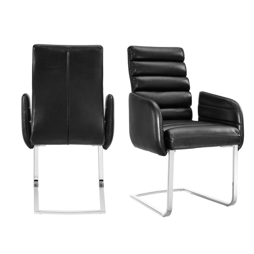 Soho Black Modern Arm Chair