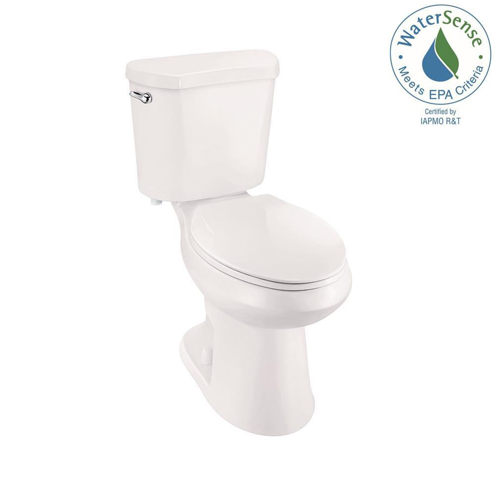 2-piece 1.28 GPF High Efficiency Single Flush Elongated Toilet in Biscuit