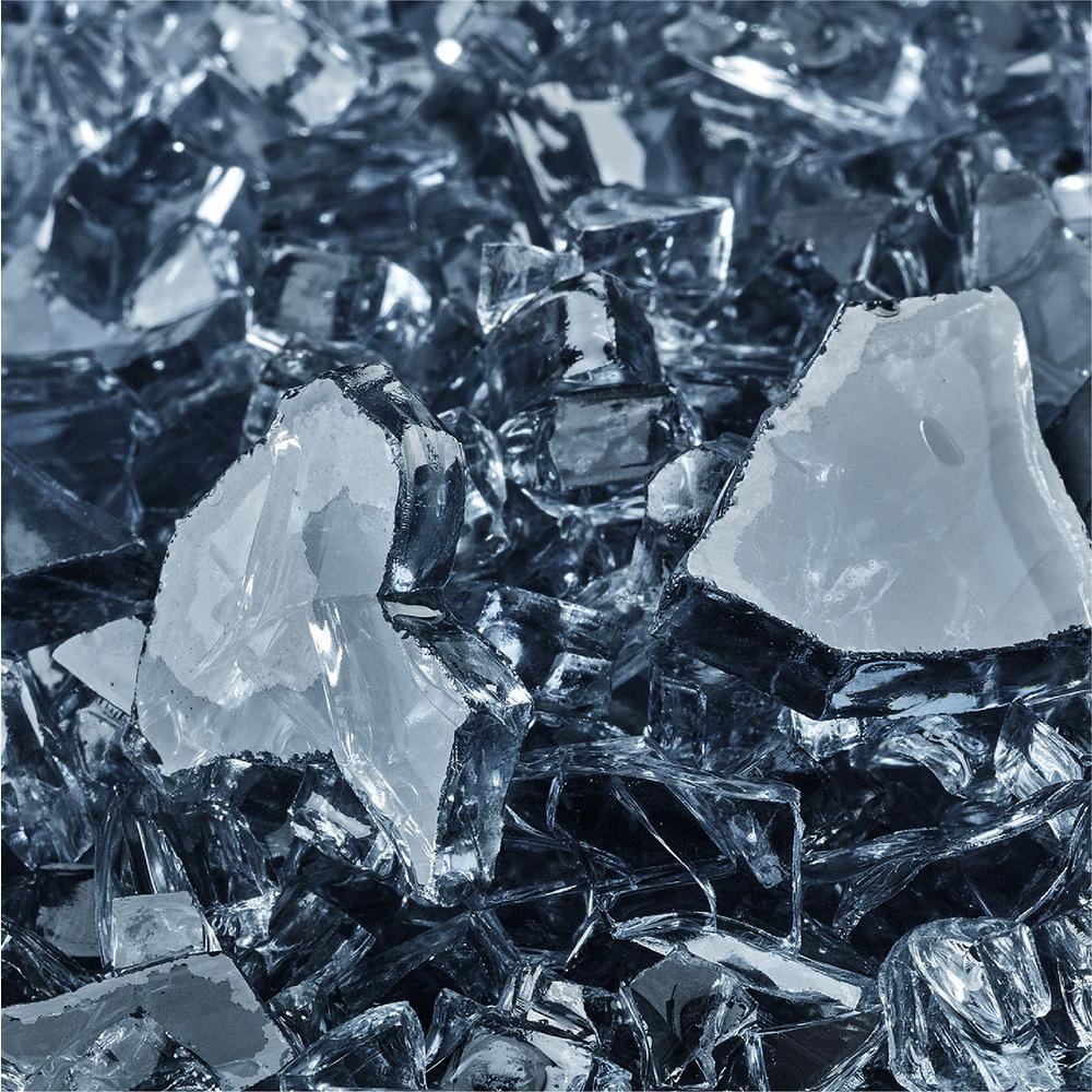 10 lbs. of Steel Blue 1/4 in. Fire Glass