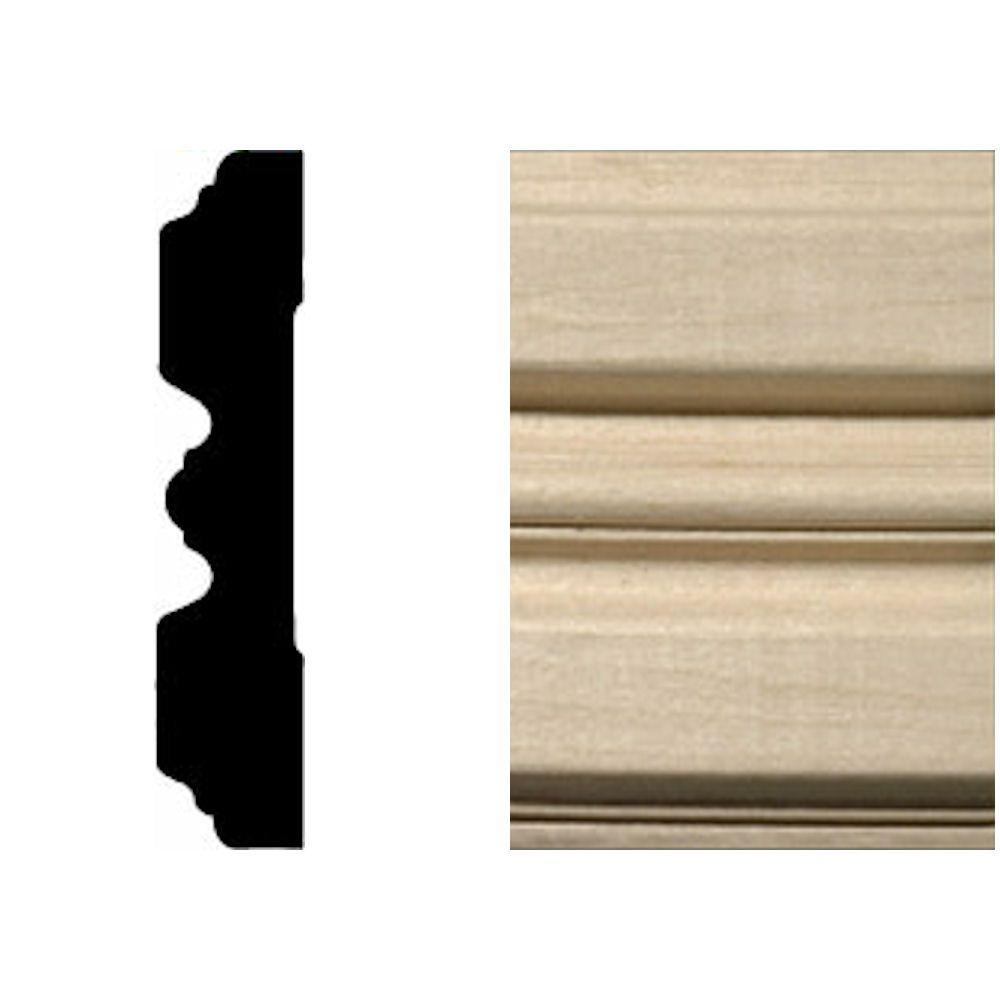 3/4 in. x 3-1/4 in. x 7 ft. Hardwood Fluted Casing/Chair