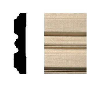 3/4 in. x 3-1/4 in. x 7 ft. Hardwood Fluted Casing/Chair Rail Moulding