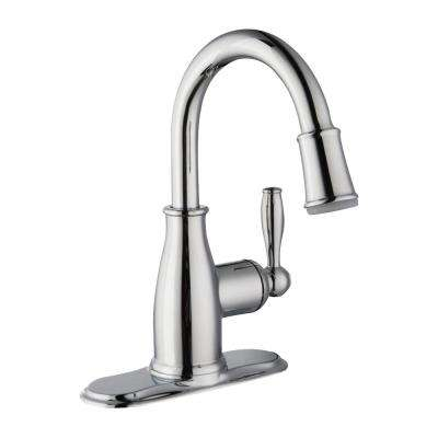 Mandouri Single Hole Single-Handle LED High-Arc Bathroom Faucet in Chrome