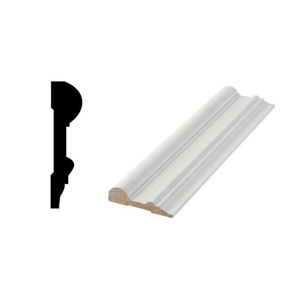 Woodgrain Millwork Wg 1001 11 16 In X 2 3 4 In X 96 In Primed Finger Jointed Chail Rail Moulding Pfp1001 08 The Home Depot