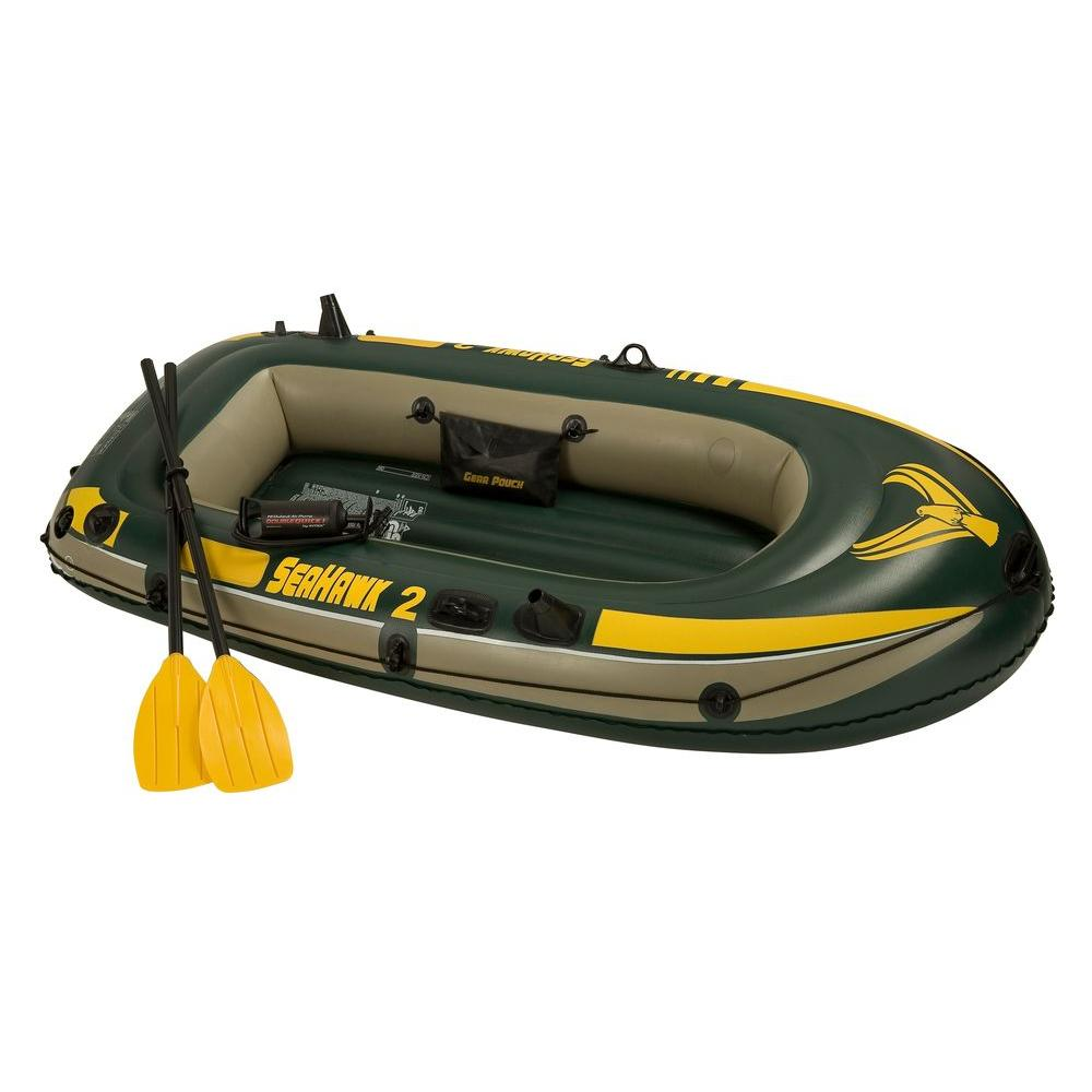 Intex Recreation Seahawk Lake Boat, Green/Yellow