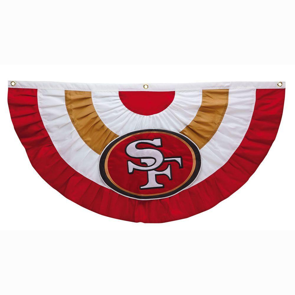 2-1/3 ft. x 5 ft. San Francisco 49ers Team Bunting