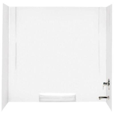 30 in. x 60 in. x 58 in. 3-Piece Easy Up Adhesive Alcove Tub Surround in White