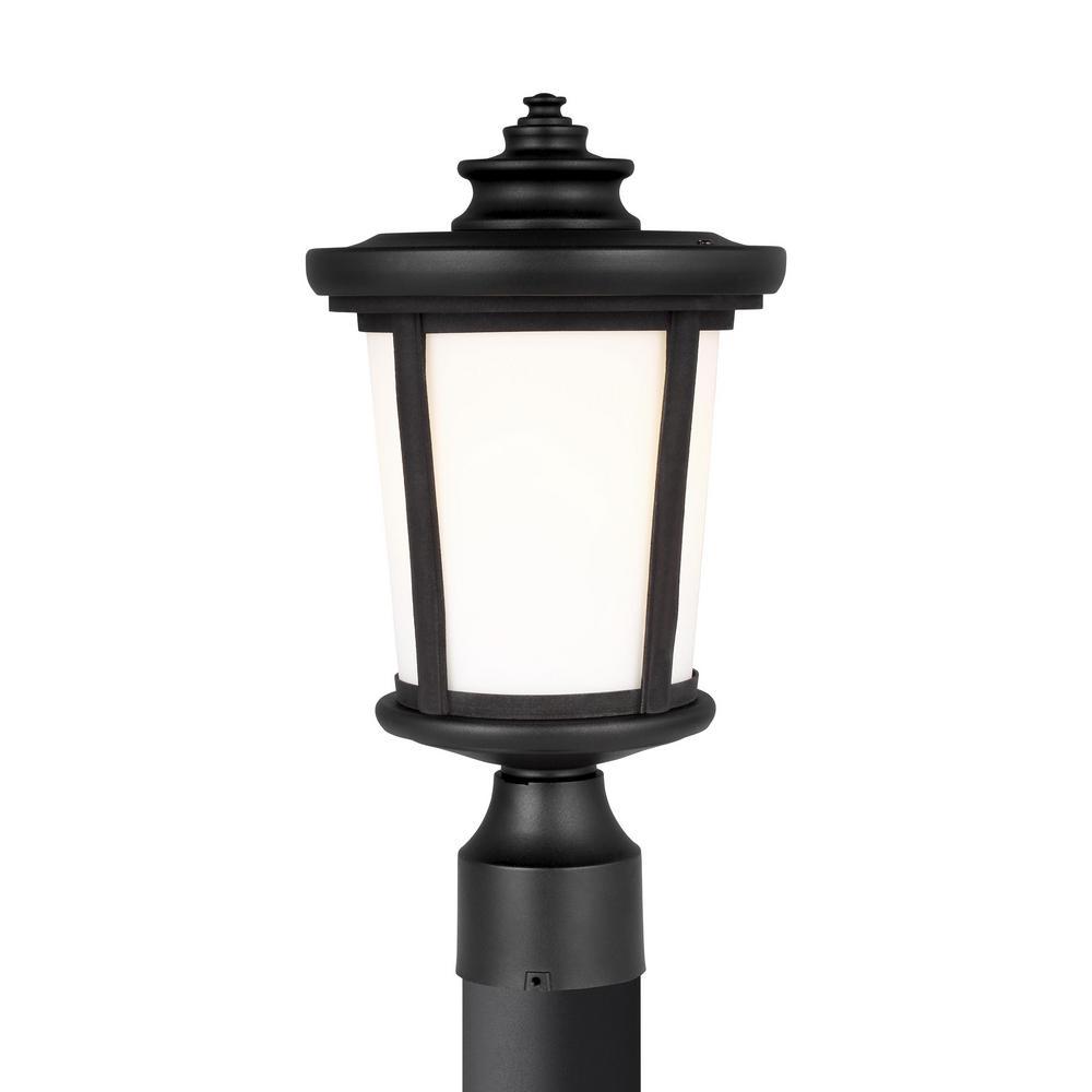 Eddington 1-Light Black Outdoor Post Lantern
