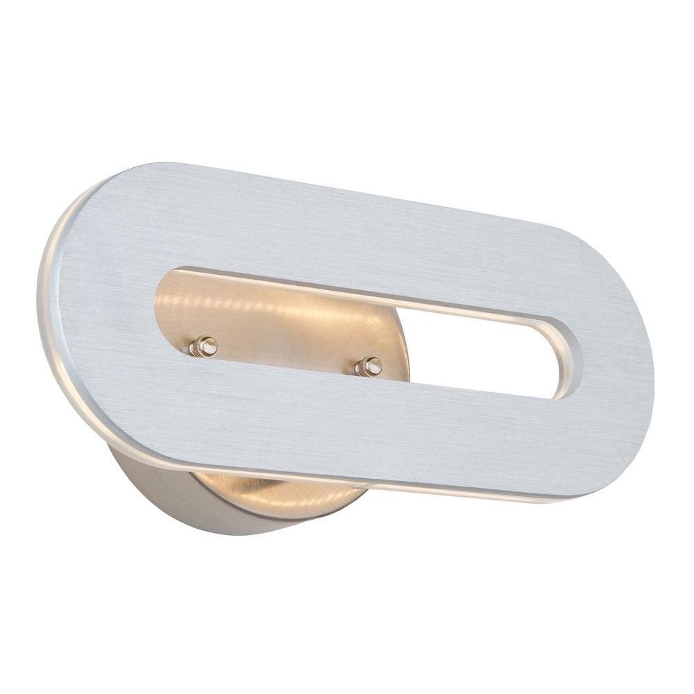 1-Light Brushed Aluminum Sconce