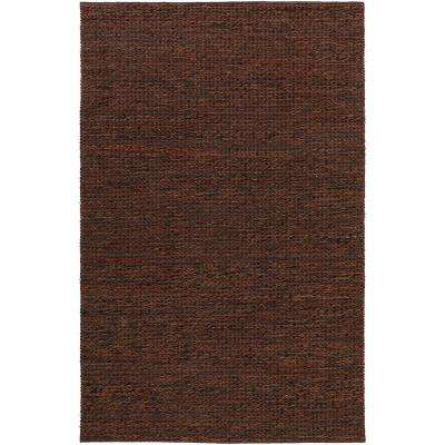 Tescott Dark Brown 5 ft. x 8 ft. Area Rug