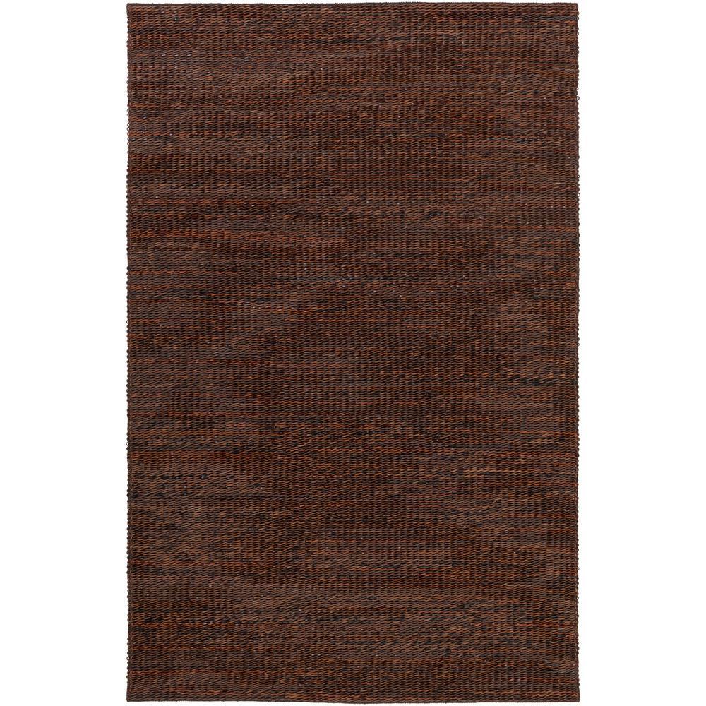 Tescott Dark Brown 8 ft. x 10 ft. Area Rug