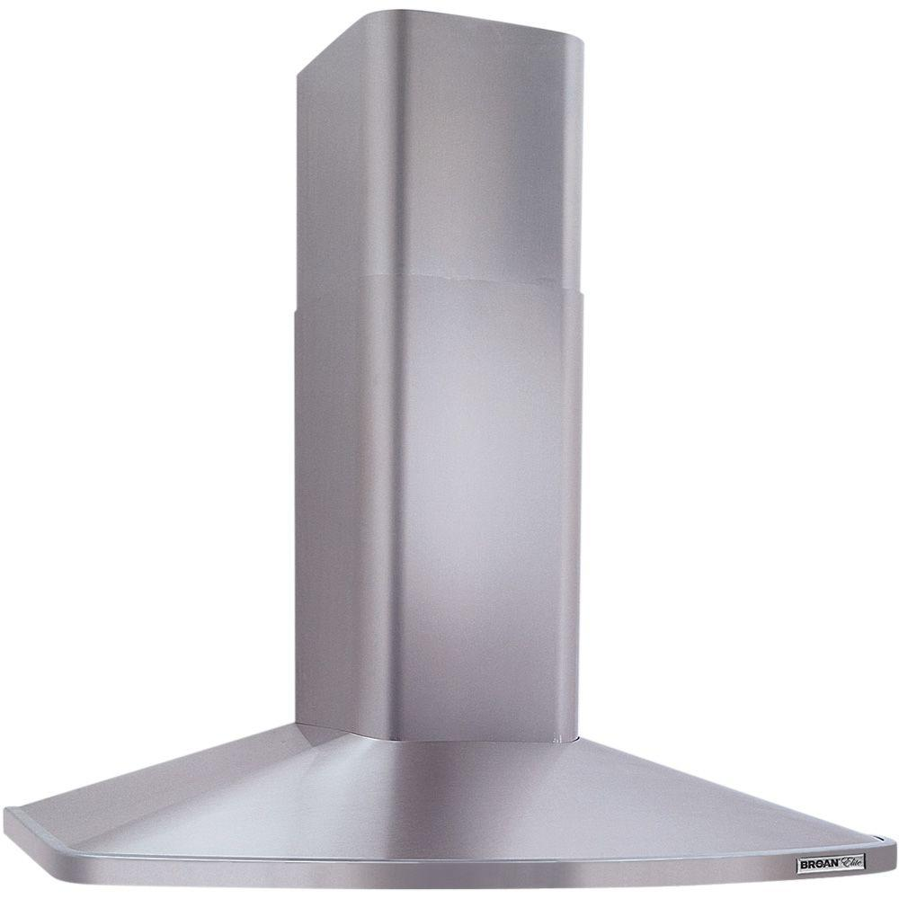 Broan Nutone Elite Rm52000 42 In Convertible Wall Mount Chimney Range Hood With Light In Stainless Steel Rm524204 The Home Depot