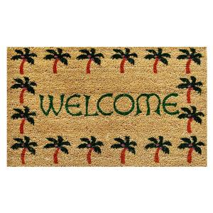 Home & More Palm Tree Border Welcome Door Mat 17 inch x 29 in. by Home & More