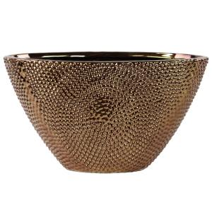 Urban Trends Collection Bronze Chrome Stoneware Decorative Vase by Urban Trends Collection
