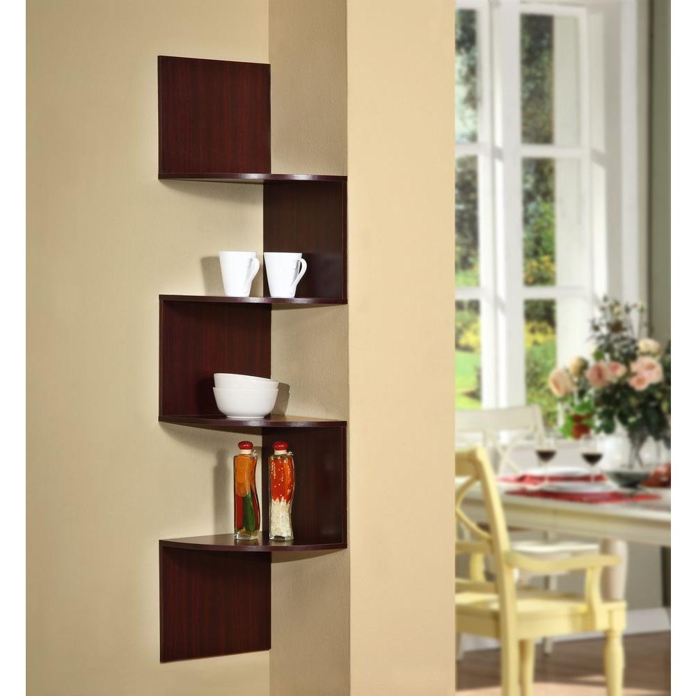 4D Concepts Hanging Wall Corner Shelf Storage-99600 - The Home Depot