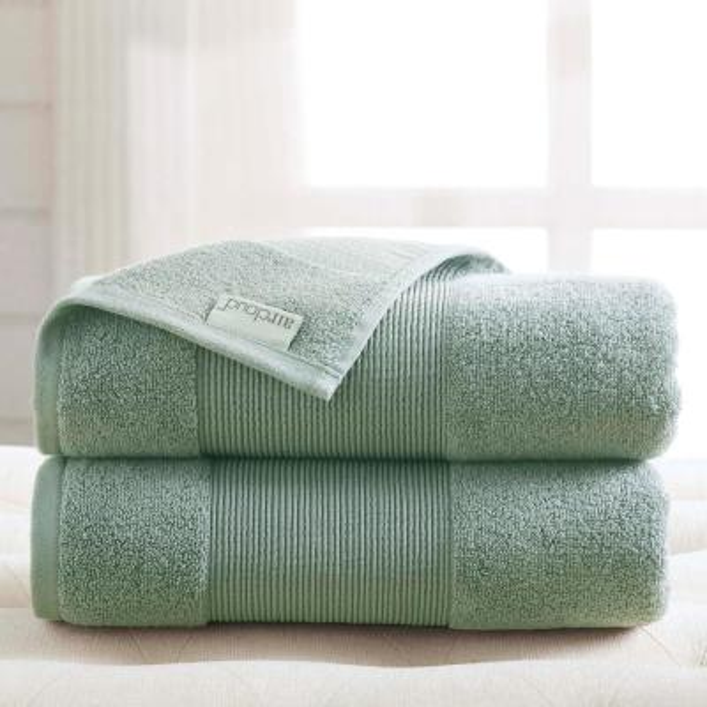 Air Cloud 2-Piece Eucalyptus Oversized Bath Sheet