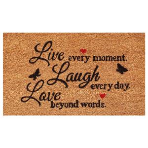 Home & More Live Every Moment Door Mat 17 inch x 29 in. by Home & More