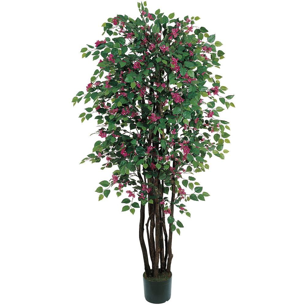Nearly natural 6 ft bougainvillea silk tree 5021 the home depot bougainvillea silk tree mightylinksfo