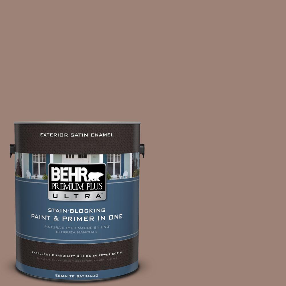 BEHR Premium Plus Ultra 1-gal. #N150-4 Modern Mocha Satin Enamel Exterior Paint
