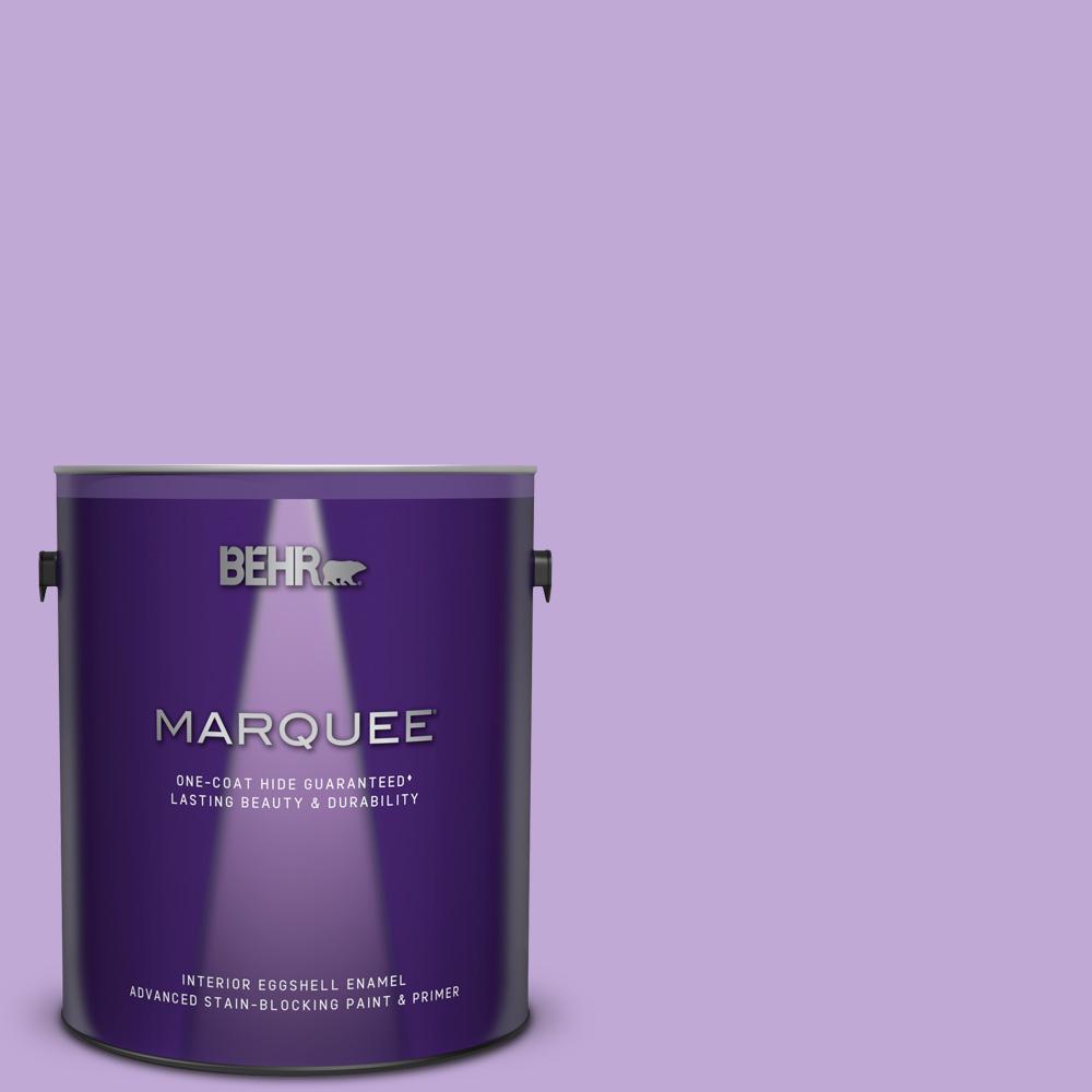 Mq4 59 Purple Gladiola One Coat Hide Eggshell Enamel Interior Paint And Primer In