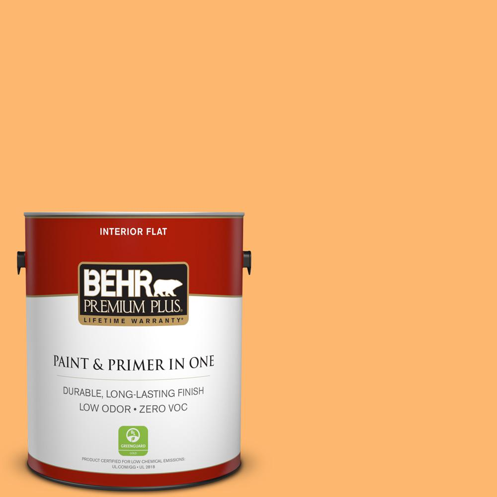BEHR Premium Plus 1-gal. #P240-5 Cheese Puff Flat Interior Paint