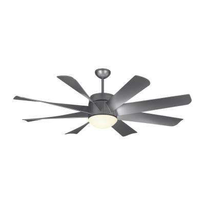 Integrated remote control included hugger ceiling fans led indoor painted brushed steel ceiling fan aloadofball Gallery