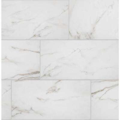 Michelangelo Calacatta Rectified 12 in. x 24 in. Porcelain Floor and Wall Tile (425.6 sq. ft. / pallet)