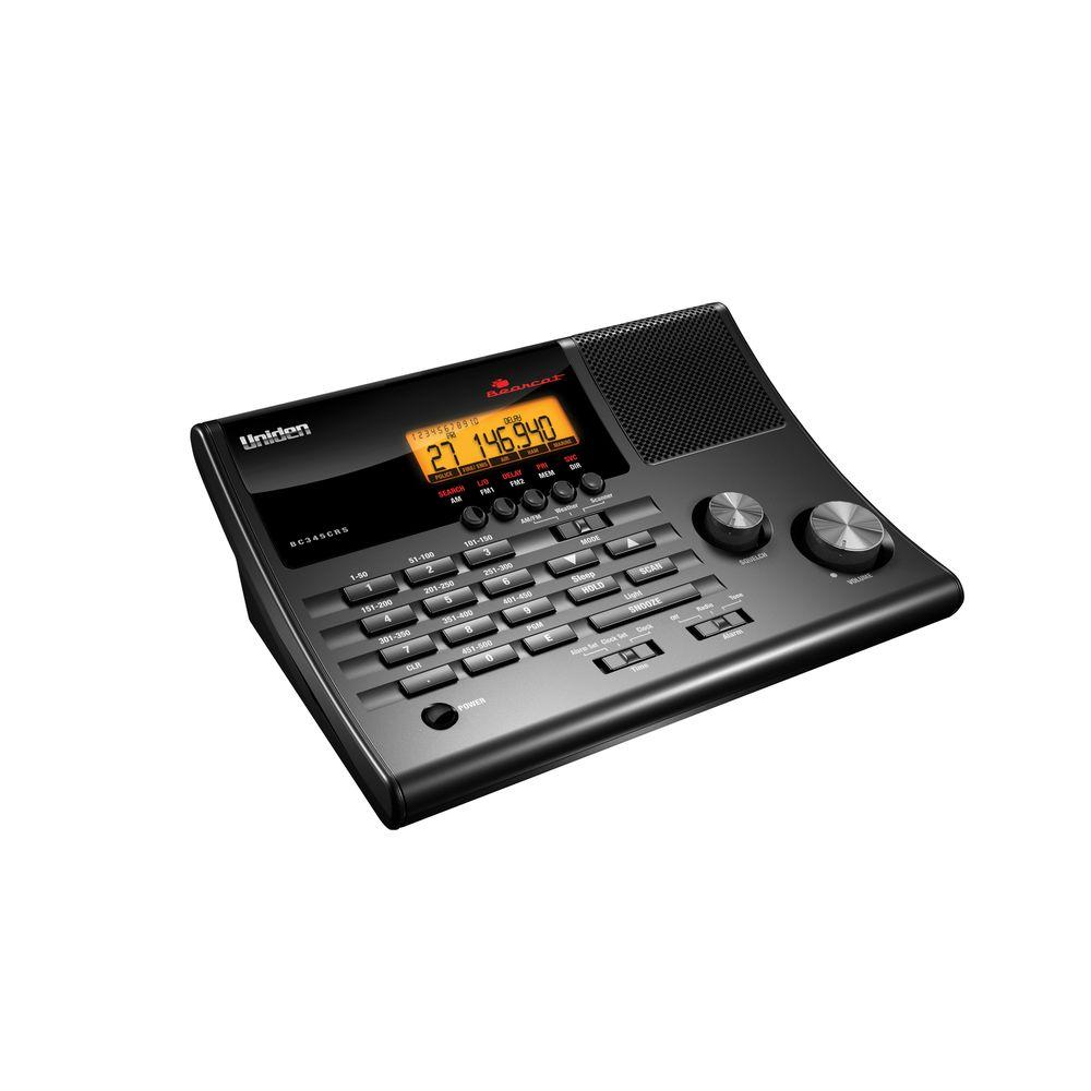 Uniden CRS AM and FM Clock Radio Base Scanner with 500 Channels in 10 Banks