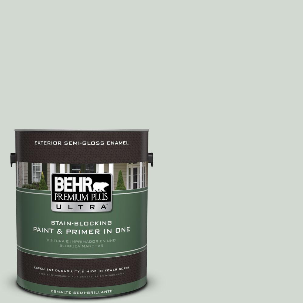 BEHR Premium Plus Ultra Home Decorators Collection 1-gal. #HDC-CT-23 Wind Fresh White Semi-Gloss Enamel Exterior Paint