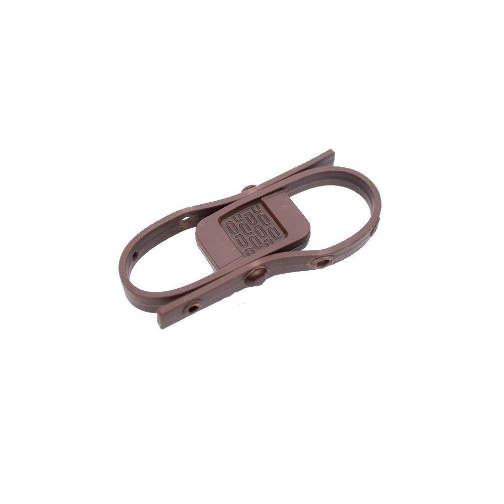 null Child Safety Brown Cabinet Latch (4-Pack)-DISCONTINUED