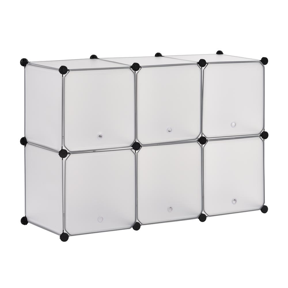 43.7 in. W x 30 in. H Clear 6-Cube Organizer