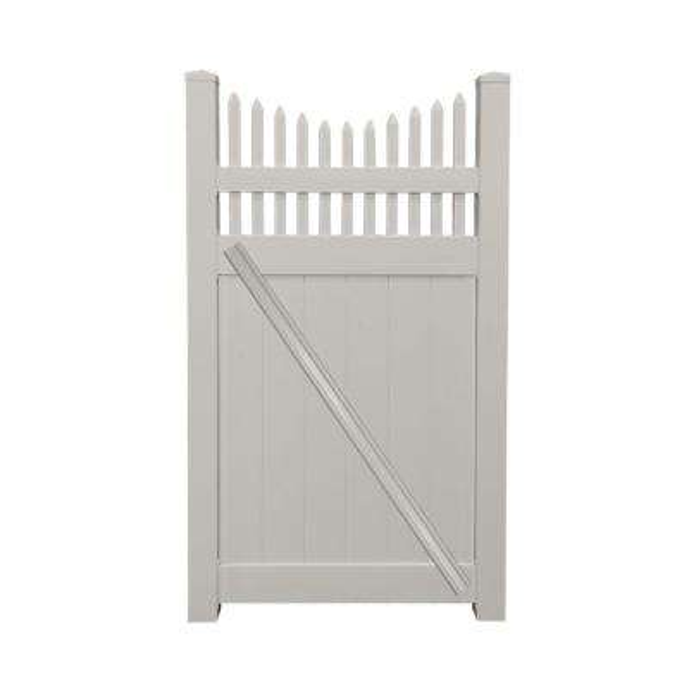Halifax 3.7 ft. W x 6 ft. H Tan Vinyl Privacy Fence Gate Kit
