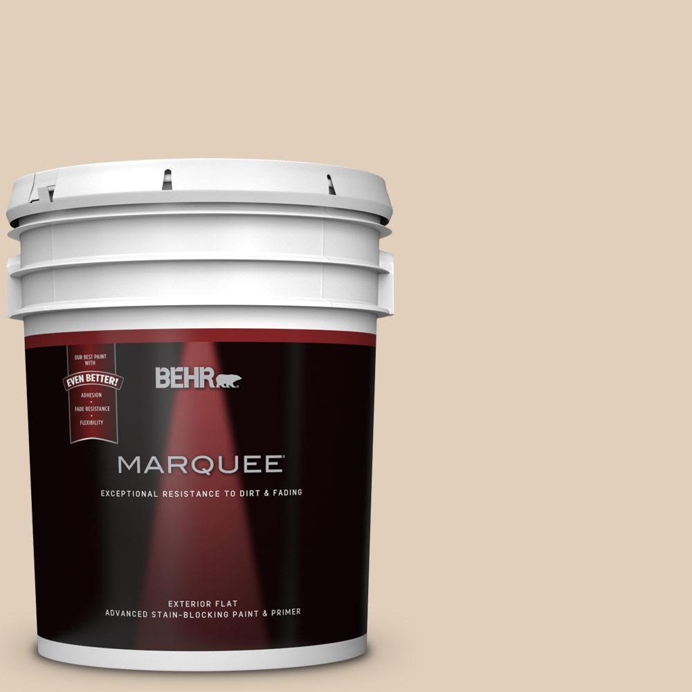 Behr Marquee 5 Gal Pwn 66 Toasted Cashew Flat Exterior Paint And Primer