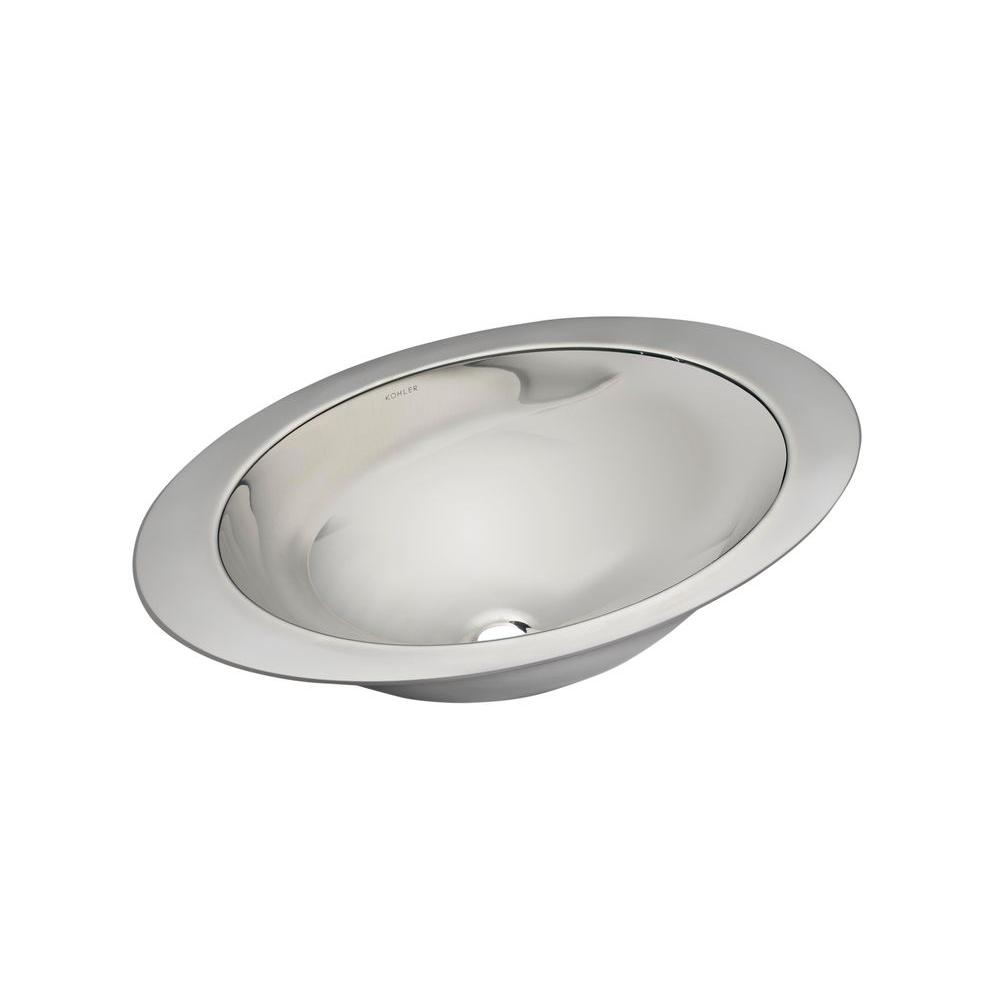 KOHLER Rhythm Undermount Stainless Steel Bathroom Sink in Satin ...