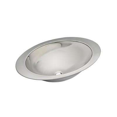 Rhythm Undermount Stainless Steel Bathroom Sink in Satin/Mirror Finish