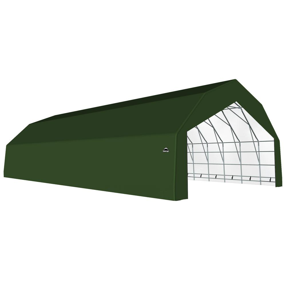 18 By 30 Instant Garage : Shelterlogic ft green galvanized