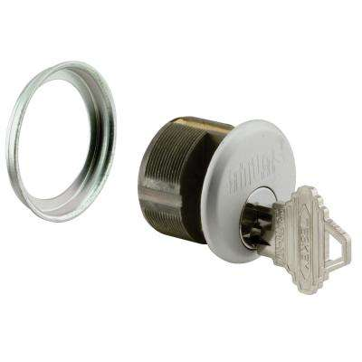 1 in. L 2 Cylinders Keyed Alike Aluminum Mortise Cylinder Lock