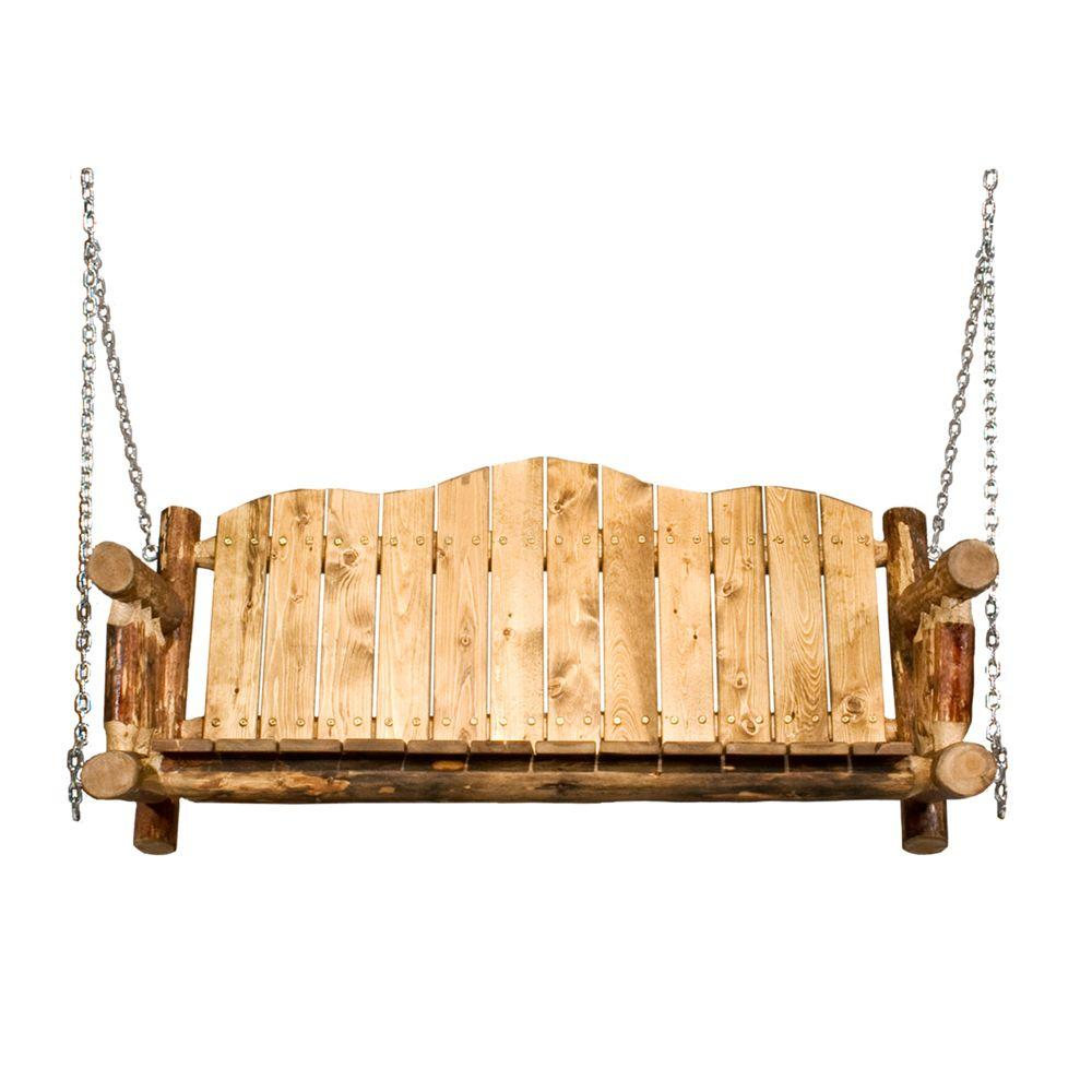 Montana Woodworks Glacier Country Porch Swing with Exterior Finish