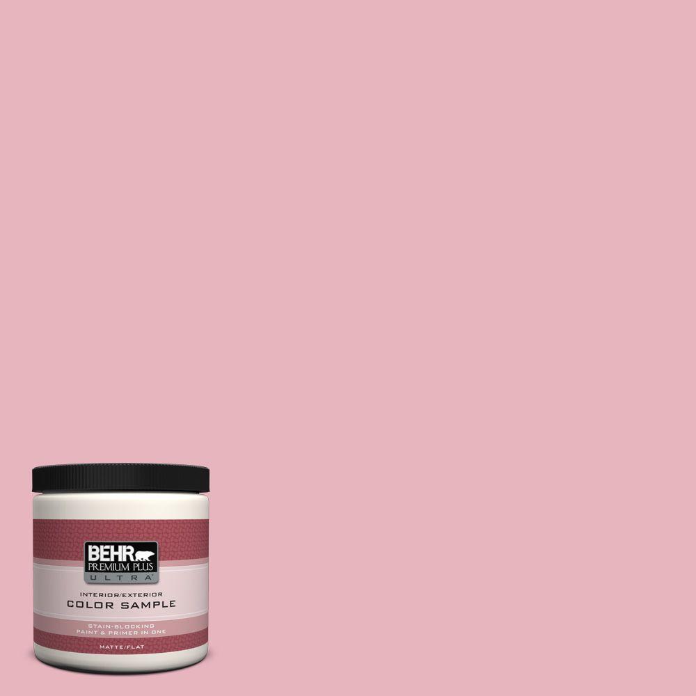 BEHR Premium Plus Ultra 8 oz. #110C-2 Colonial Rose Interior/Exterior Paint Sample