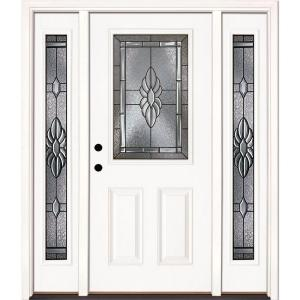 Feather river doors 635 in x 81625 in sapphire patina 12 lite feather river doors 635 in x 81625 in sapphire patina 12 lite unfinished smooth right hand fiberglass prehung front door with sidelites 8h3191 3a4 planetlyrics Choice Image