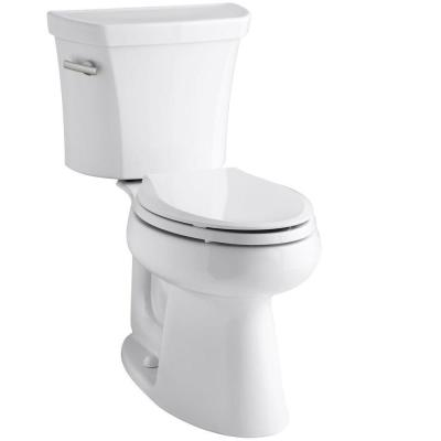 Highline 2-piece 1.28 GPF Single Flush Elongated Toilet in White, Seat Not Included