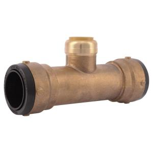 SharkBite 1-1/2 inch x 1-1/2 inch x 1 inch Brass Push-to-Connect Reducer Tee by SharkBite