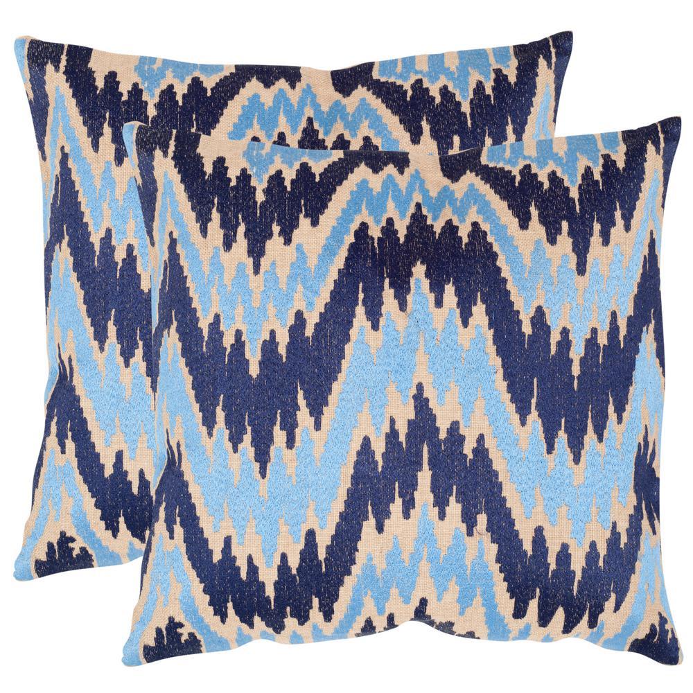 Safavieh Adam Embroidered Pillow (2-Pack) DEC611A-1818-SET2