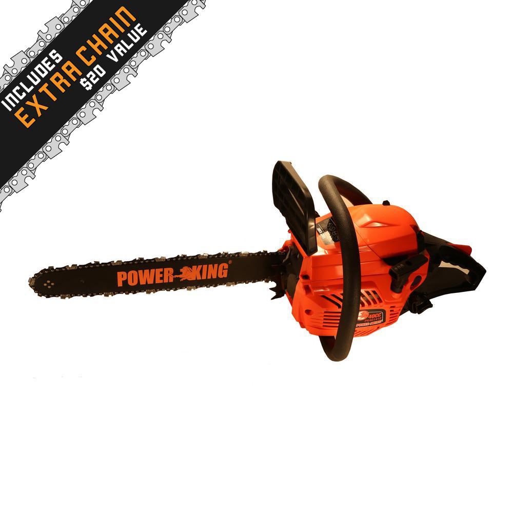 Power King 14 in 40cc Gas Chainsaw with Antivibe System-PK4014 ...
